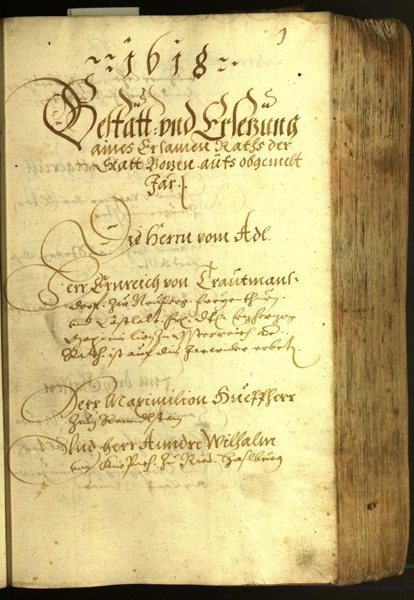 Civic Archives of Bozen-Bolzano - BOhisto Minutes of the council 1618