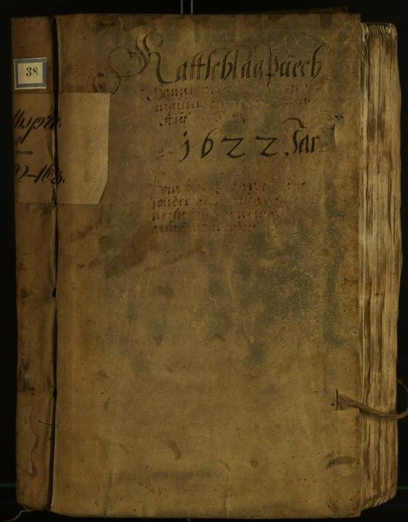Civic Archives of Bozen-Bolzano - BOhisto Minutes of the council 1622