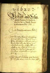 Civic Archives of Bozen-Bolzano - BOhisto Minutes of the council 1622 -