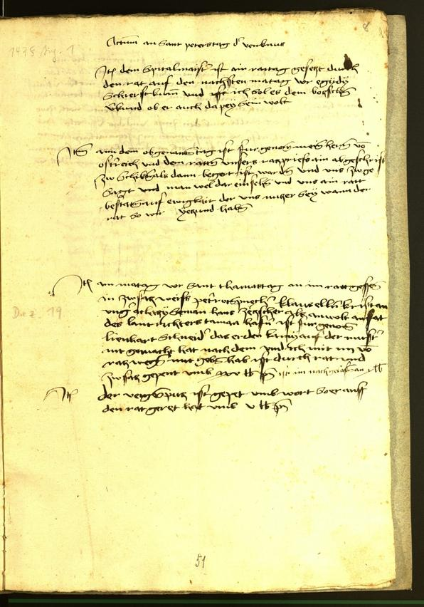 Stadtarchiv Bozen - BOhisto Ratsprotokoll 1475