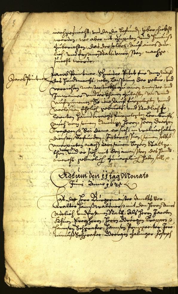 Stadtarchiv Bozen - BOhisto Ratsprotokoll 1625