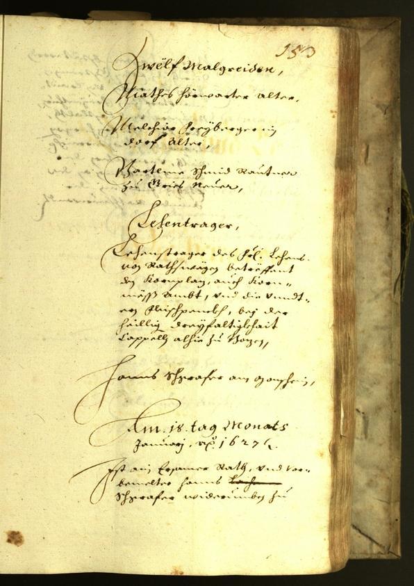Civic Archives of Bozen-Bolzano - BOhisto Minutes of the council 1627