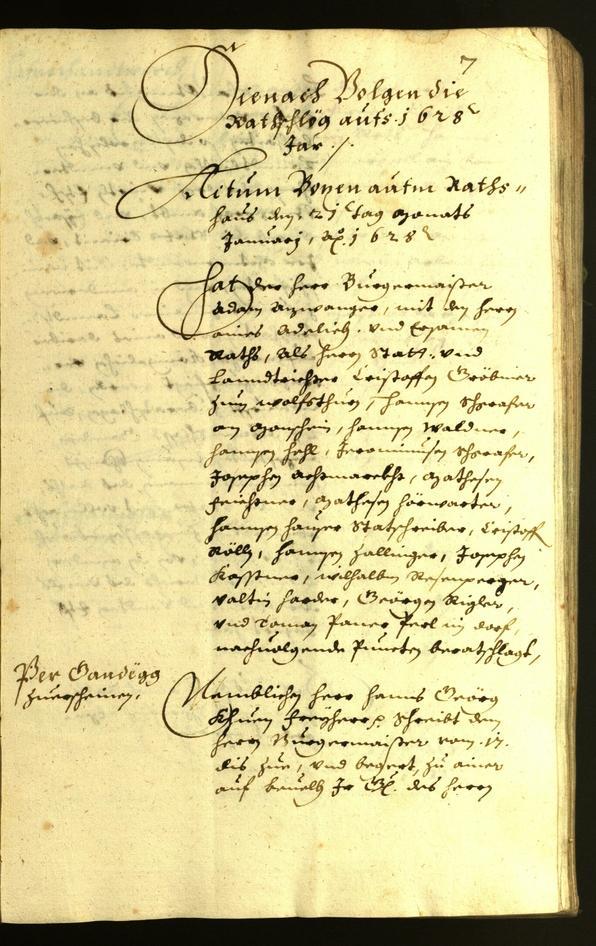 Civic Archives of Bozen-Bolzano - BOhisto Minutes of the council 1628