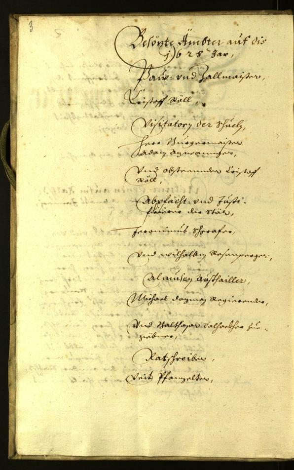 Civic Archives of Bozen-Bolzano - BOhisto Minutes of the council 1628