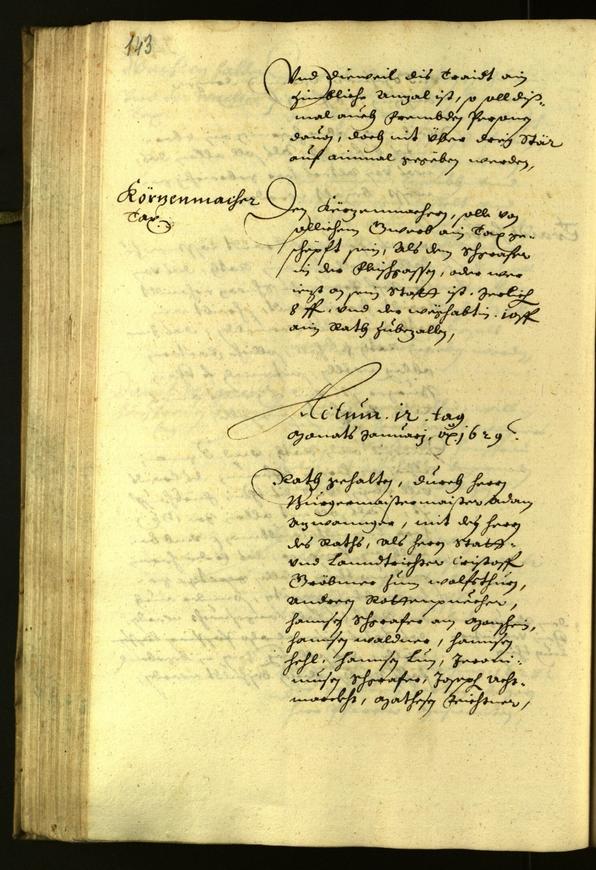 Archivio Storico della Città di Bolzano - BOhisto protocollo consiliare 1629