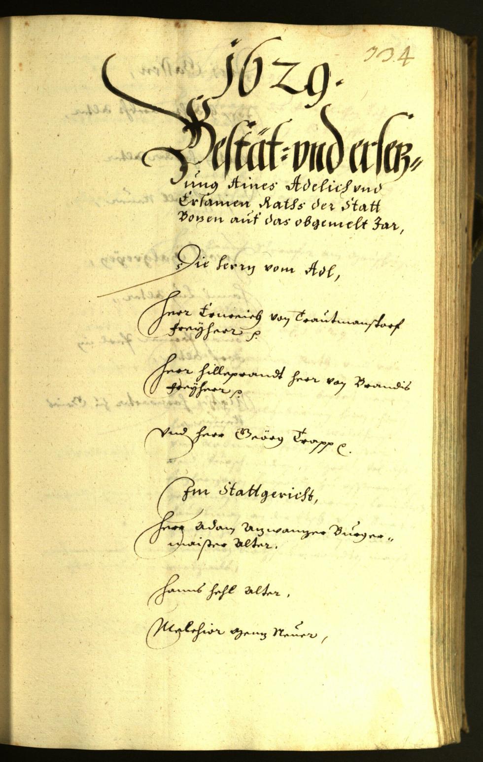 Stadtarchiv Bozen - BOhisto Ratsprotokoll 1629