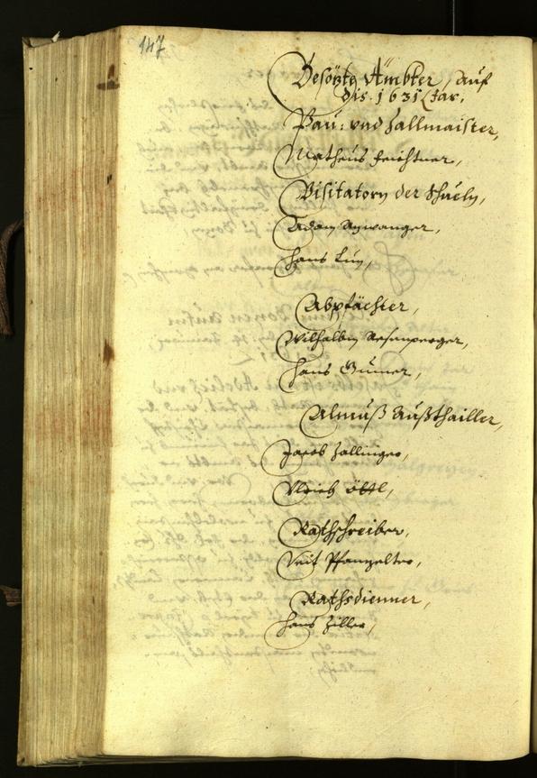 Civic Archives of Bozen-Bolzano - BOhisto Minutes of the council 1631
