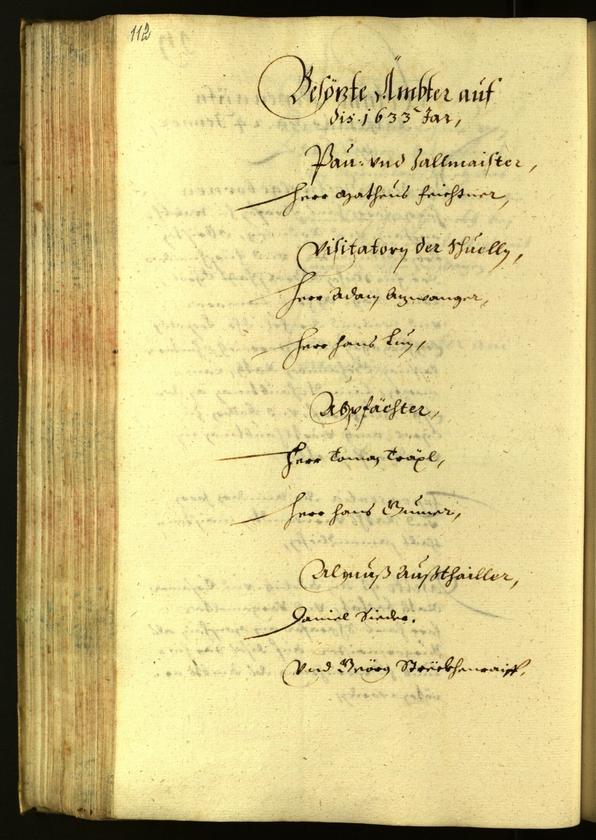 Archivio Storico della Città di Bolzano - BOhisto protocollo consiliare 1633
