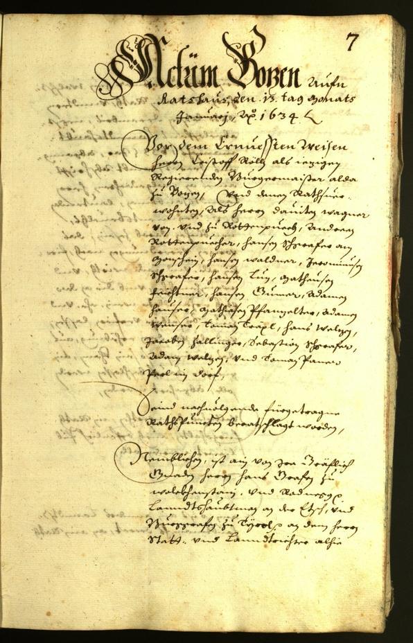 Archivio Storico della Città di Bolzano - BOhisto protocollo consiliare 1634