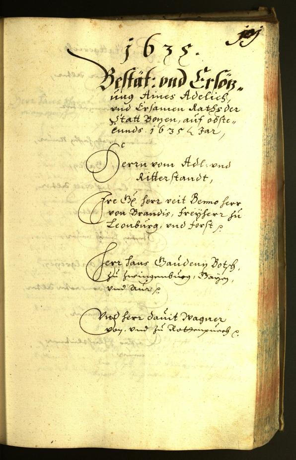 Stadtarchiv Bozen - BOhisto Ratsprotokoll 1635