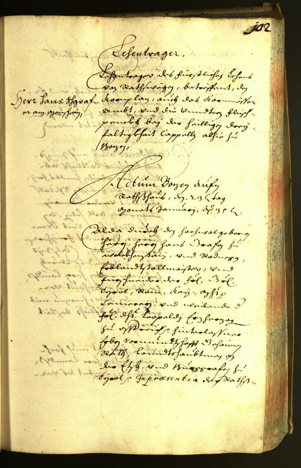 Archivio Storico della Città di Bolzano - BOhisto protocollo consiliare 1635