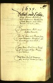Archivio Storico della Città di Bolzano - BOhisto protocollo consiliare 1635 -