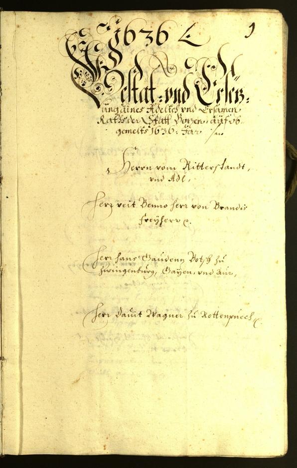 Civic Archives of Bozen-Bolzano - BOhisto Minutes of the council 1636