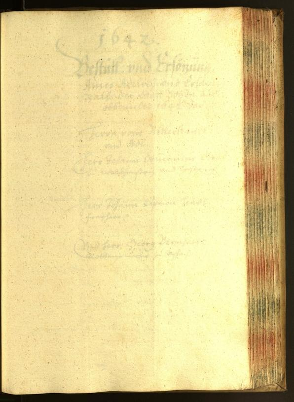 Civic Archives of Bozen-Bolzano - BOhisto Minutes of the council 1641