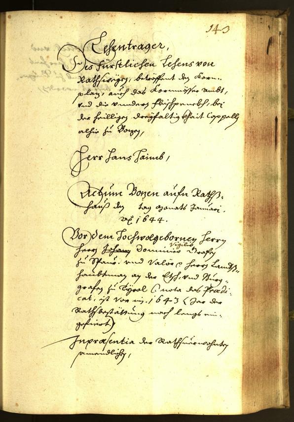 Archivio Storico della Città di Bolzano - BOhisto protocollo consiliare 1644