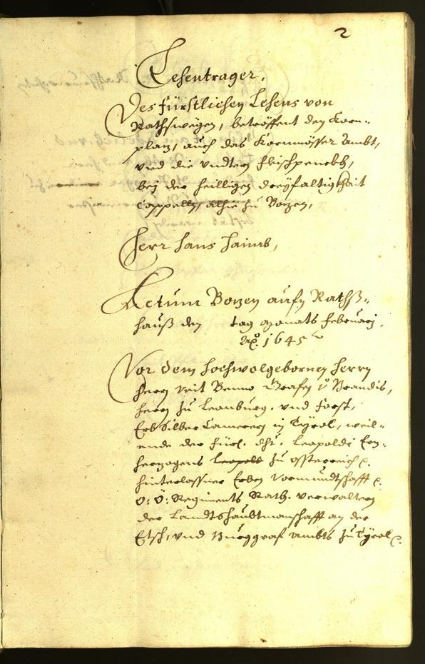 Civic Archives of Bozen-Bolzano - BOhisto Minutes of the council 1645