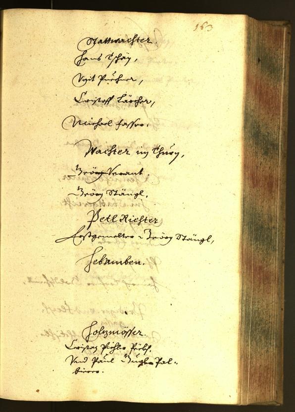 Stadtarchiv Bozen - BOhisto Ratsprotokoll 1652