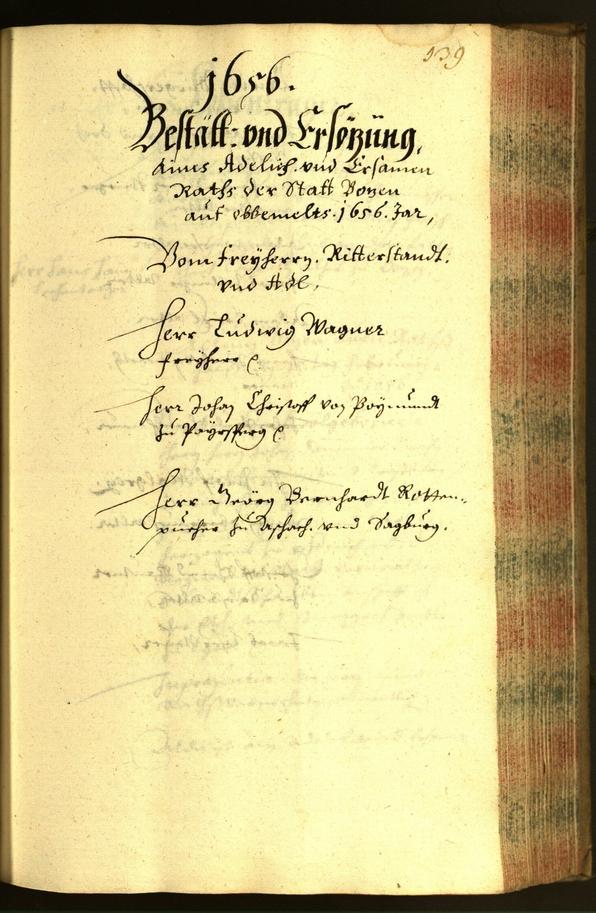 Civic Archives of Bozen-Bolzano - BOhisto Minutes of the council 1656