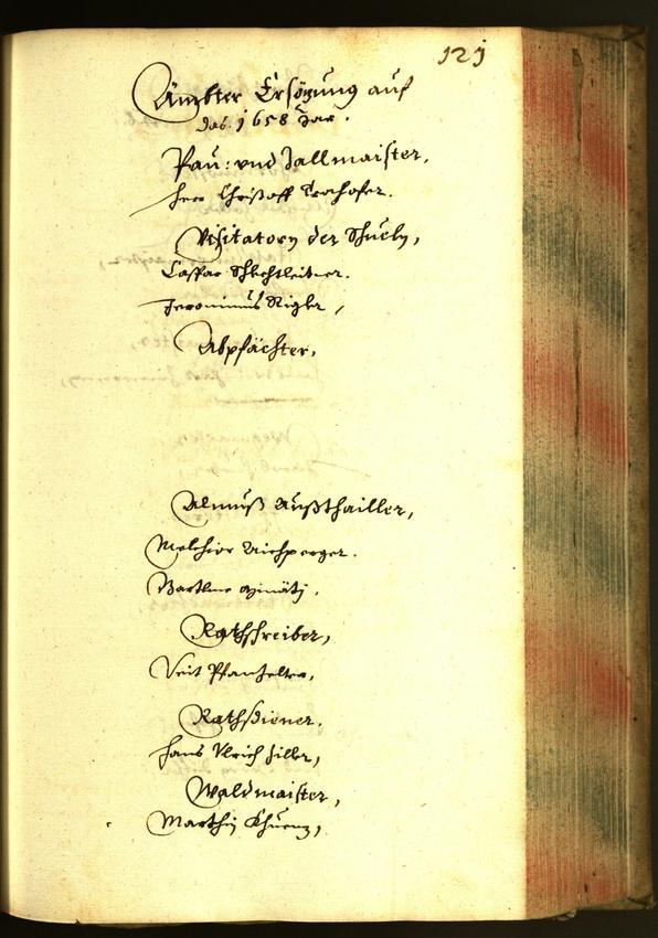 Stadtarchiv Bozen - BOhisto Ratsprotokoll 1658