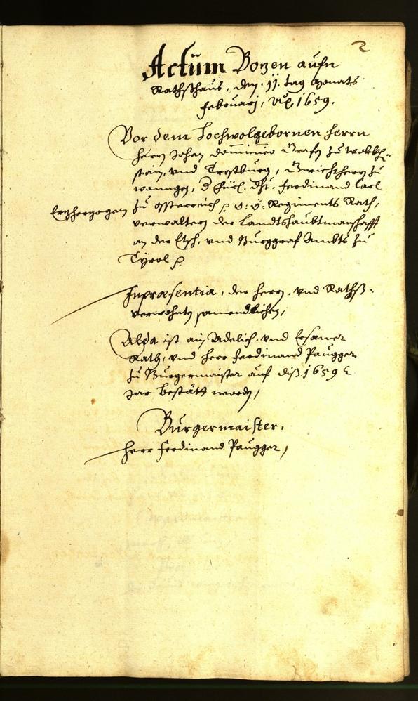 Civic Archives of Bozen-Bolzano - BOhisto Minutes of the council 1659