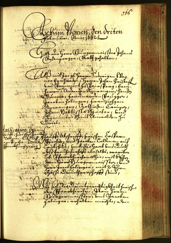 Civic Archives of Bozen-Bolzano - BOhisto Minutes of the council 1662