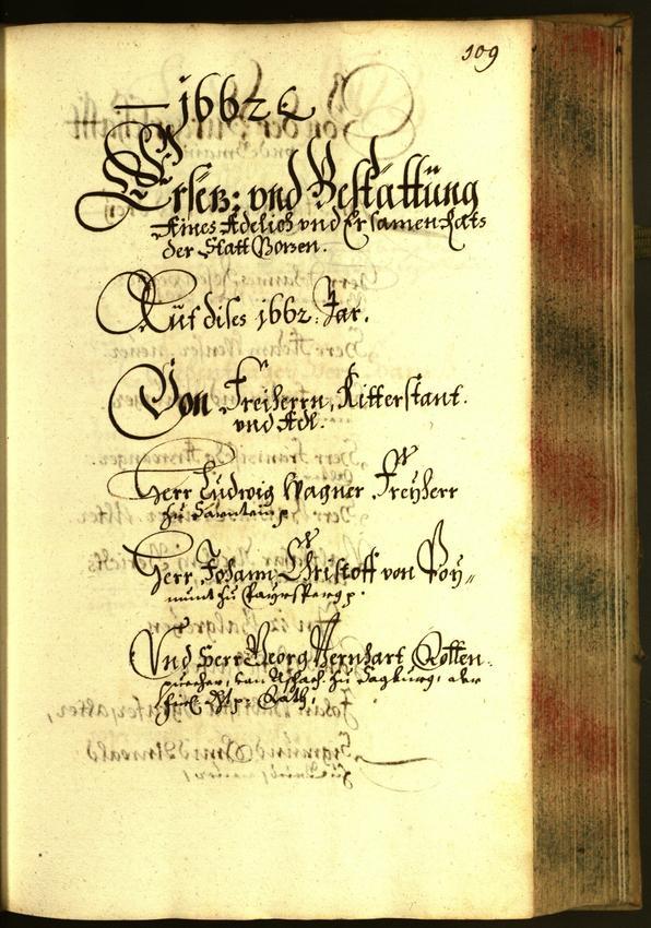 Civic Archives of Bozen-Bolzano - BOhisto Minutes of the council 1662