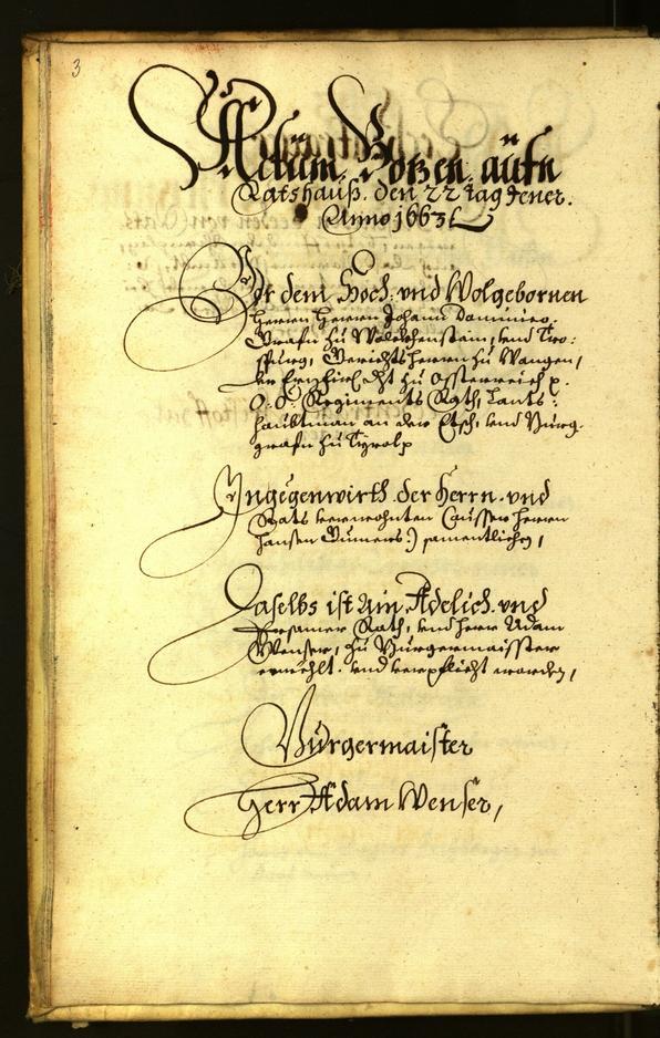 Archivio Storico della Città di Bolzano - BOhisto protocollo consiliare 1663