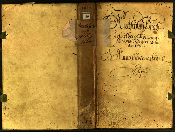 Stadtarchiv Bozen - BOhisto Ratsprotokoll 1665