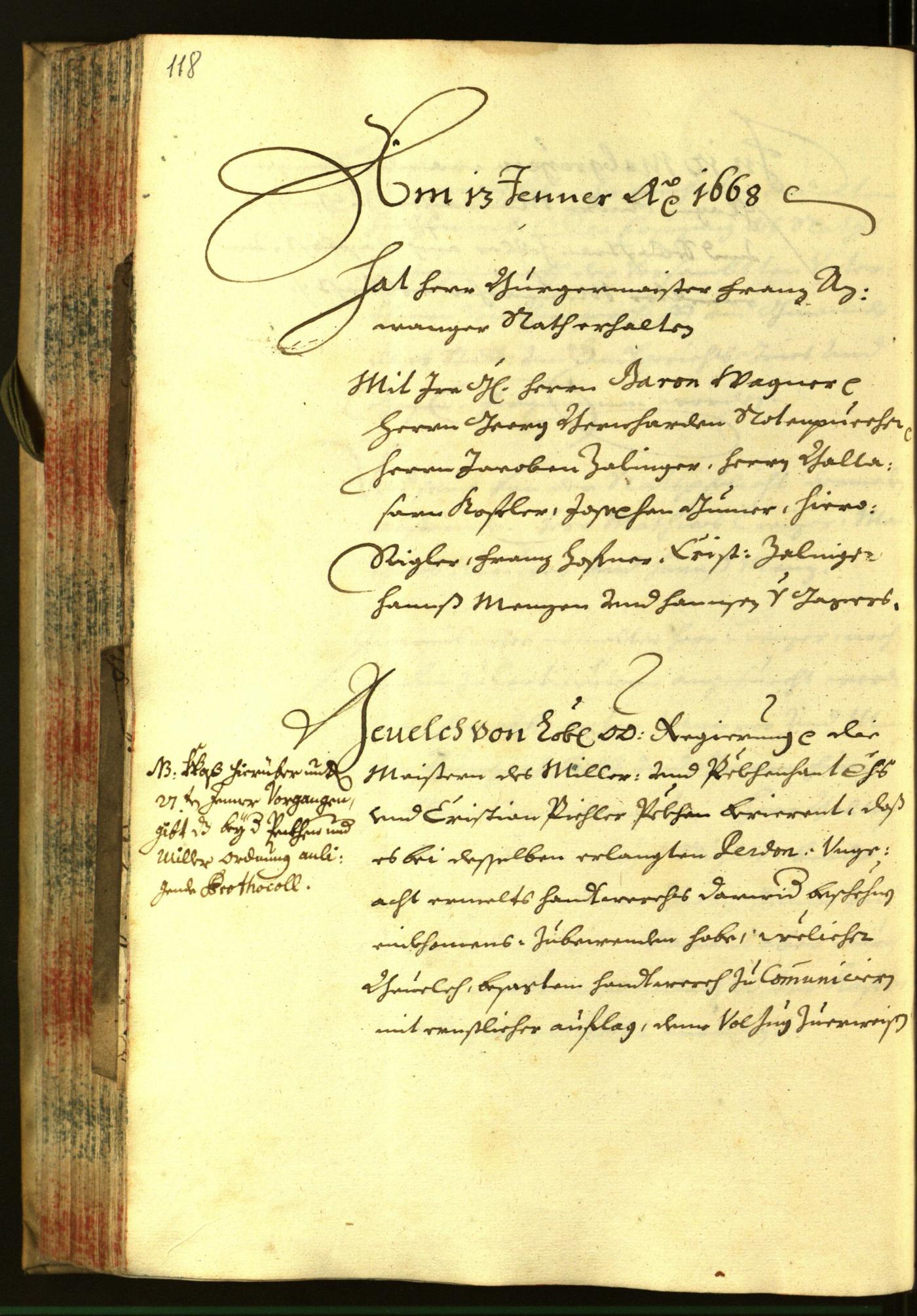 Archivio Storico della Città di Bolzano - BOhisto protocollo consiliare 1668