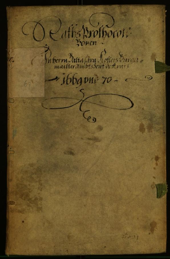Stadtarchiv Bozen - BOhisto Ratsprotokoll 1669