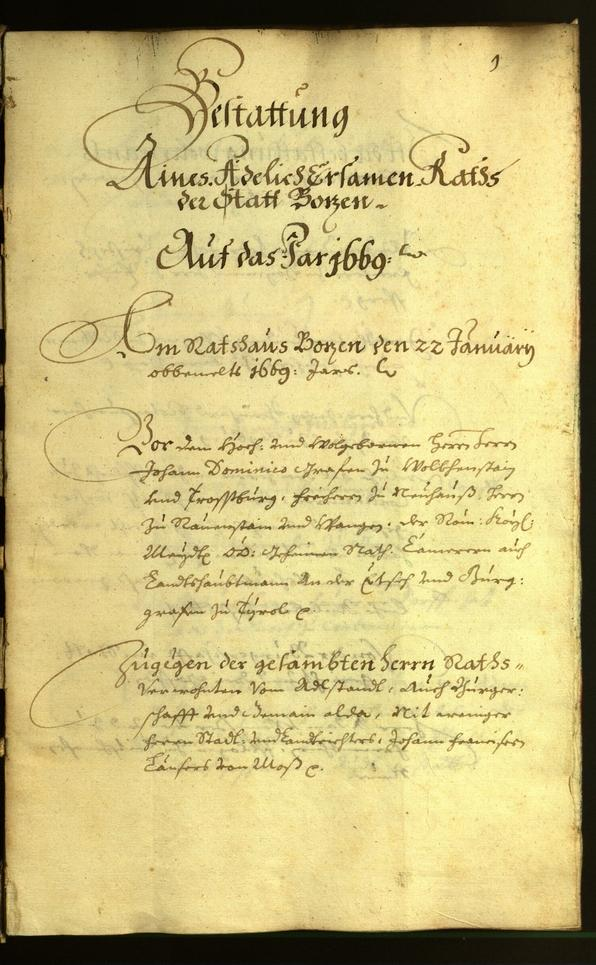 Civic Archives of Bozen-Bolzano - BOhisto Minutes of the council 1669