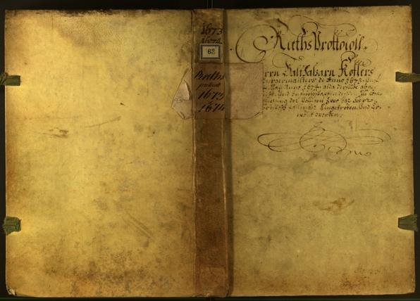 Stadtarchiv Bozen - BOhisto Ratsprotokoll 1673