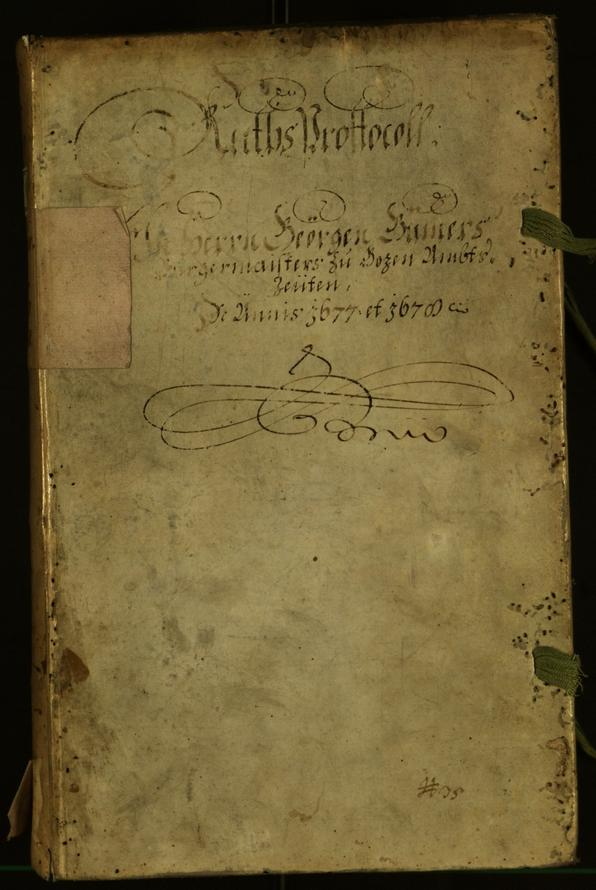Civic Archives of Bozen-Bolzano - BOhisto Minutes of the council 1677