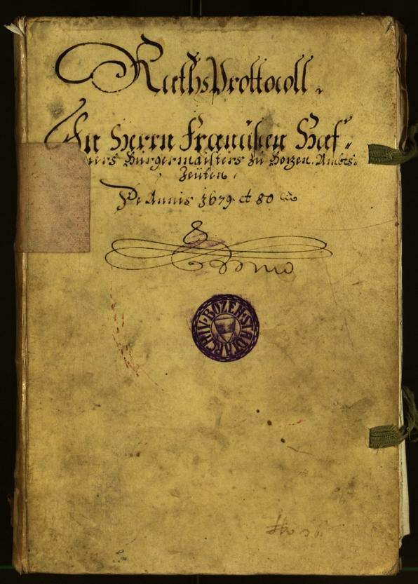 Stadtarchiv Bozen - BOhisto Ratsprotokoll 1679