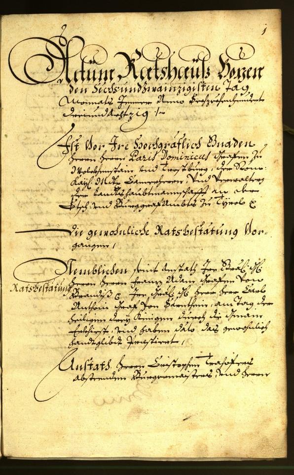 Civic Archives of Bozen-Bolzano - BOhisto Minutes of the council 1683