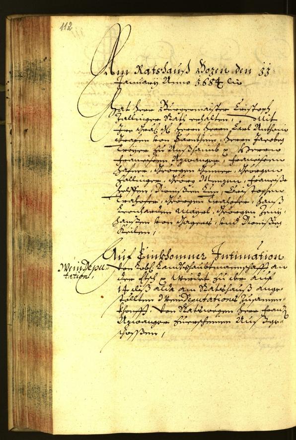 Civic Archives of Bozen-Bolzano - BOhisto Minutes of the council 1684