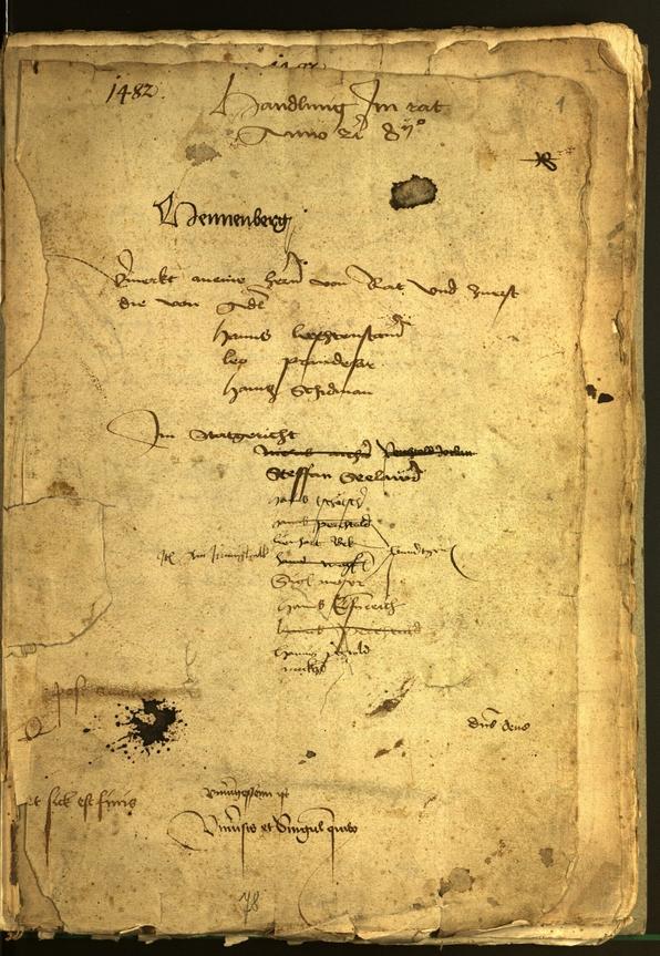 Civic Archives of Bozen-Bolzano - BOhisto Minutes of the council 1482