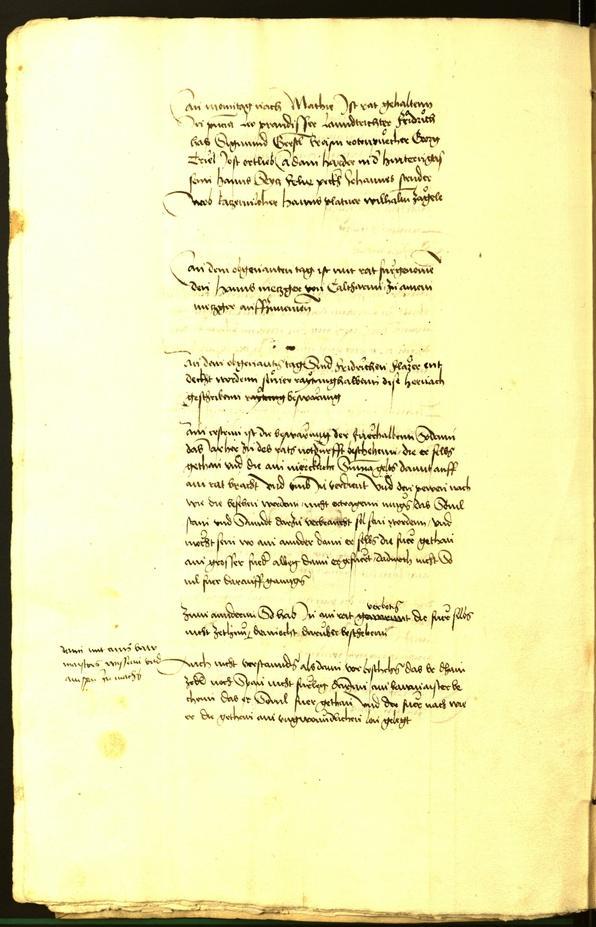 Civic Archives of Bozen-Bolzano - BOhisto Minutes of the council 1492