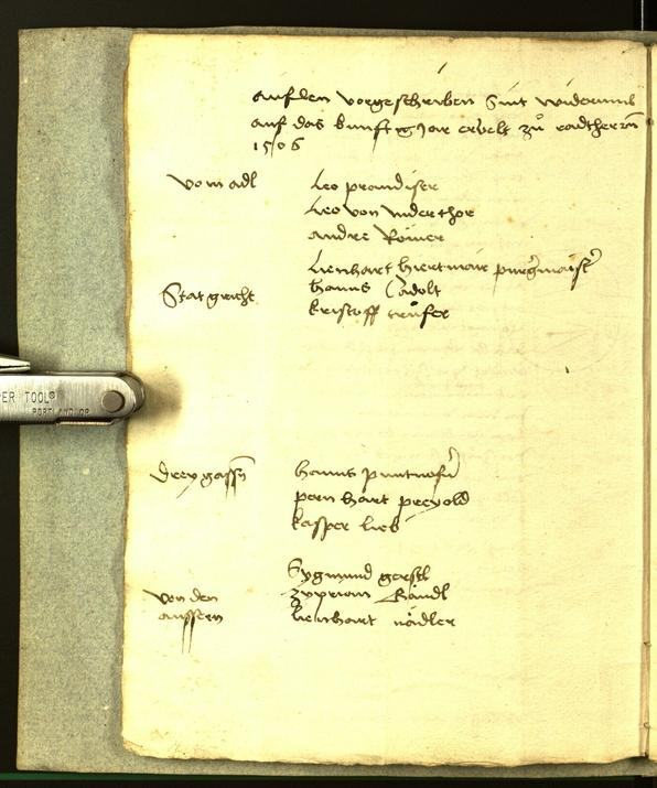 Civic Archives of Bozen-Bolzano - BOhisto Minutes of the council 1506
