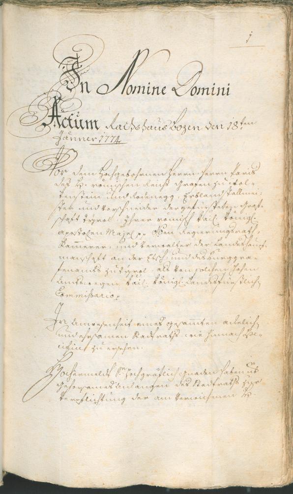 Civic Archives of Bozen-Bolzano - BOhisto Ratsprotokoll 1774/77