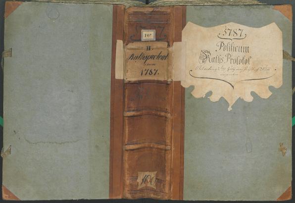 Stadtarchiv Bozen - BOhisto Ratsprotokoll 1787