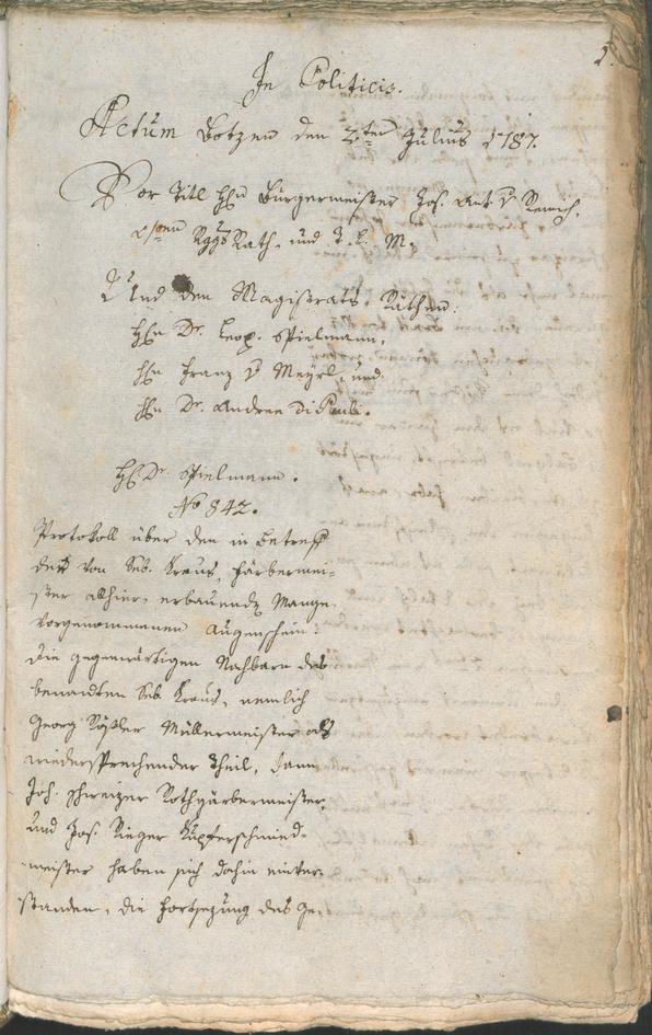 Civic Archives of Bozen-Bolzano - BOhisto Ratsprotokoll 1787