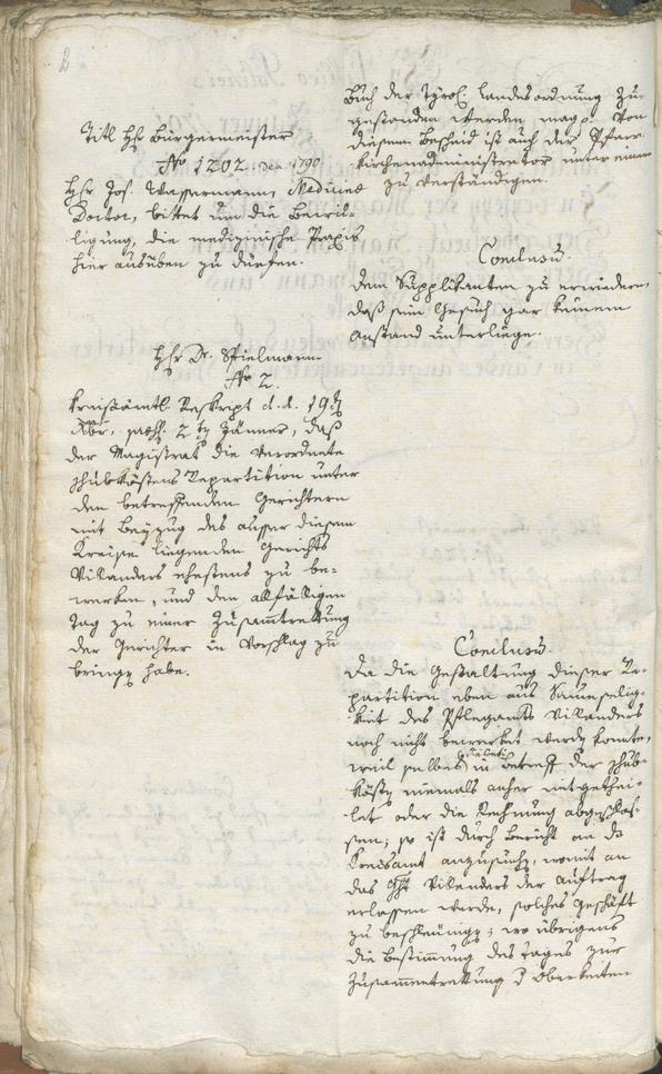 Stadtarchiv Bozen - BOhisto Ratsprotokoll 1791