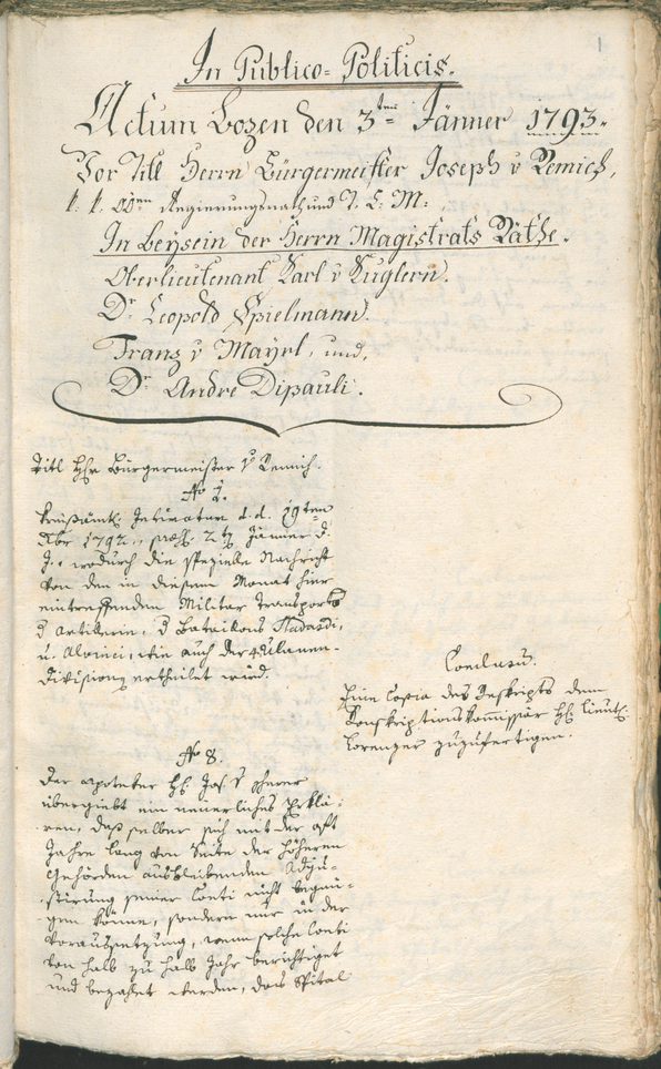 Civic Archives of Bozen-Bolzano - BOhisto Ratsprotokoll 1793