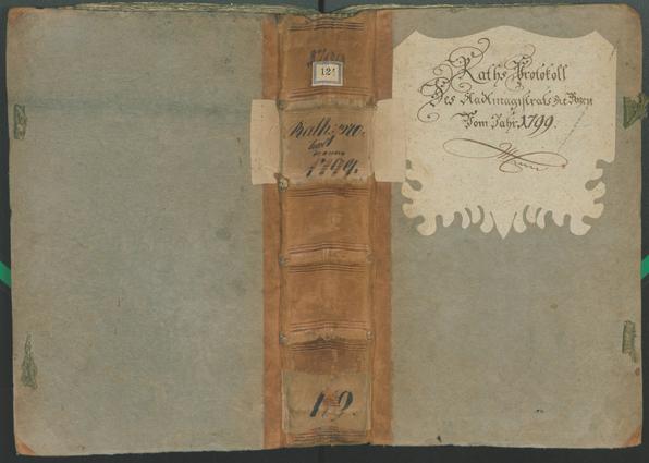 Stadtarchiv Bozen - BOhisto Ratsprotokoll 1799