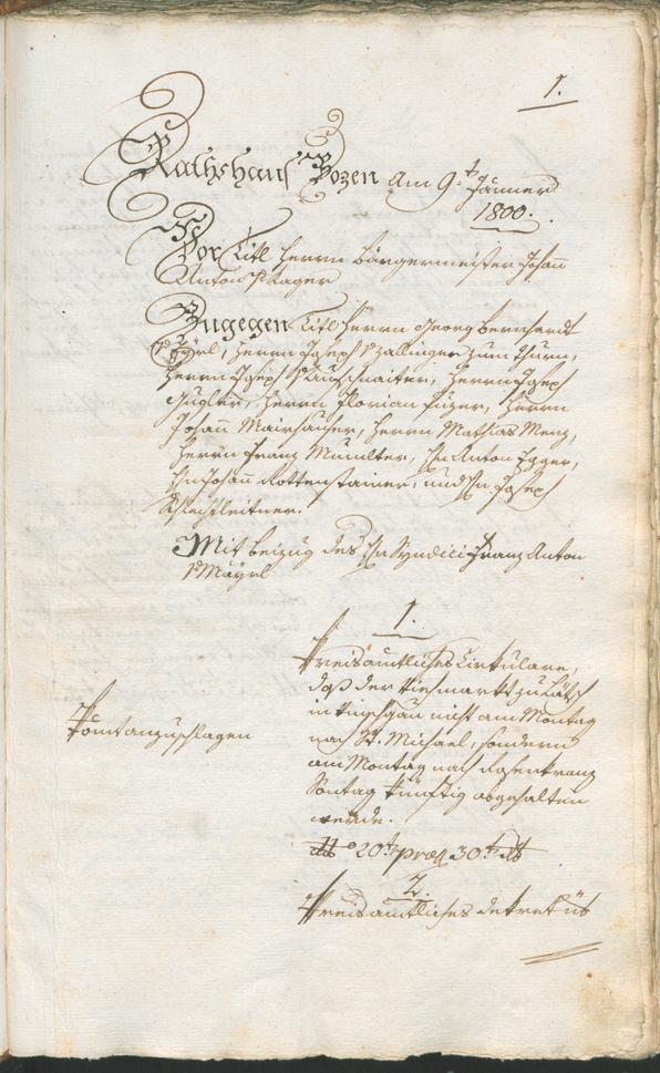 Archivio Storico della Città di Bolzano - BOhisto protocollo consiliare 1800