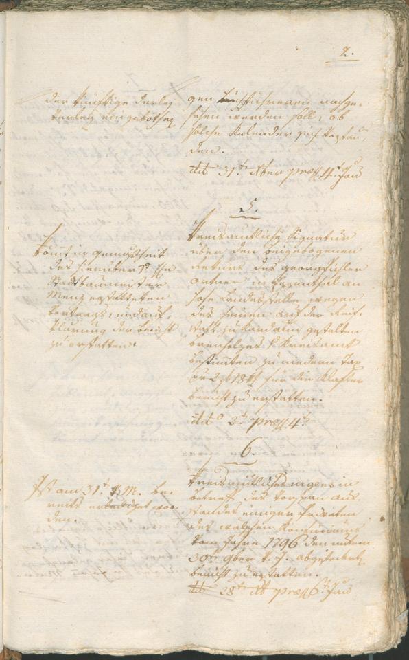 Stadtarchiv Bozen - BOhisto Ratsprotokoll 1802