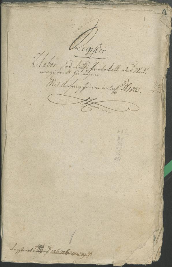 Civic Archives of Bozen-Bolzano - BOhisto Ratsprotokoll 1805