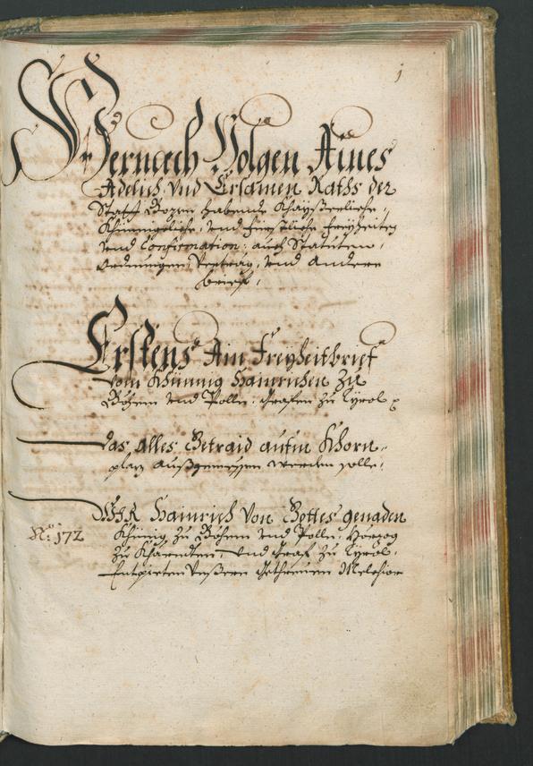 Civic Archives of Bozen-Bolzano - BOhisto Kopeibuch 1322-1705