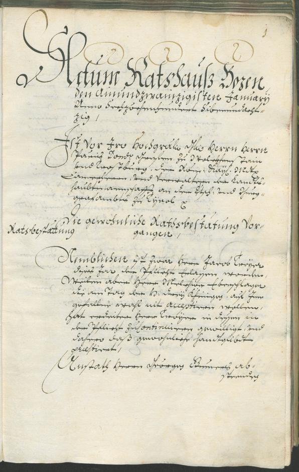Stadtarchiv Bozen - BOhisto Ratsprotokoll 1687/89